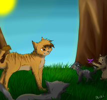 Lionblaze's family by nicki-the-kat