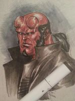 hellboy with copic markers by Sajad126