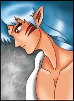 Sesshomaru Does a Sexy Pose by Tutankhamun