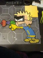 Perler Calvin and Hobbes Spaceman Spiff by rushtalion