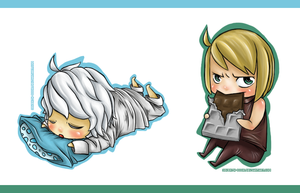 DN: chibi Near and chibi Mello by seven7h-door