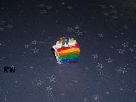 Polymer Clay Rainbow Cake by Becca427