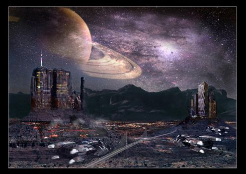 Sci-Fi Matte Painting by gd86pipo