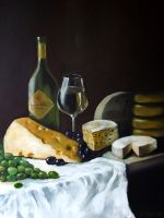 cheese and wine by Konf