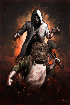 The Evil Within - Summon the Beast by MimmuArt