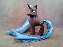 G4:FiM - Twilight Sky with tinsel - custom pony by hannaliten