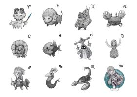 Sign de Zodiac by MangoKingoroo