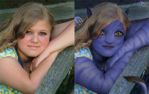 Na'vi Self -- Before and after by Dreamscape195