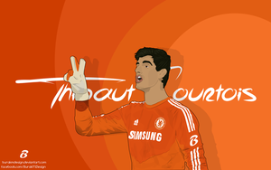 Thibaut Courtois Vector and Wallpaper by BurakMDesign