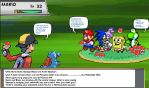Gold vs Mario Sonic Sponge Blaze Yoshi Comic by DarkraDx