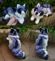 SOLD- Blue bell fox - small floppy by goiku