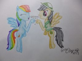 Rainbow Dash and Daring Do by Miss-Mattie-Shimmer