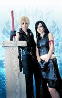 Cloud and Tifa FF VII AC cosplay by ladylucienne
