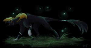 Night time firefly by KrimalFancey