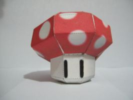 Papercraft: Mario Mushroom by Bahamut-Eternal