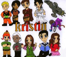 Firefly Chibis 2: for Kristin by Slayer730