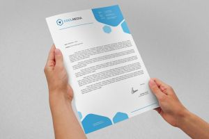Corporate Letterhead Vol.18 with MS Word DOC/DOCX by nazdrag