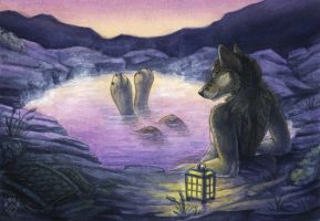 Hot Spring Repose by Idess