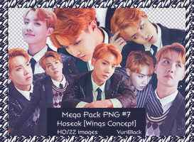 Mega Pack PNG #7 - JHope of BTS [Wings Concept] by YuriBlack