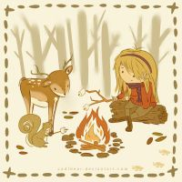 Sitting Around the Campfire by CodiBear