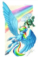 Rainbowdash and Tank! by ParkerLeif