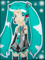 Miku Hatsune by Sweet-Blessings