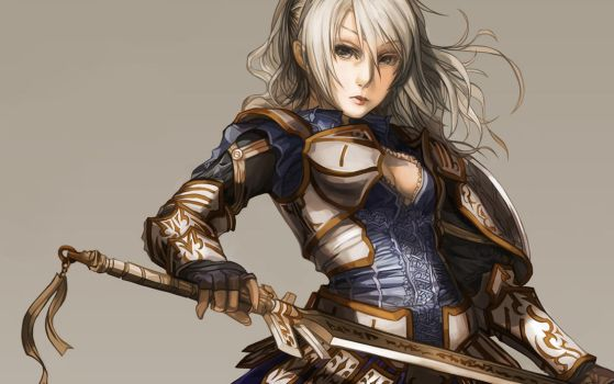 Female Warrior Fate - Wallpaper by juuhanna