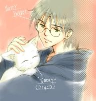 Harry and Sooty---for MEOW by cafeqsize