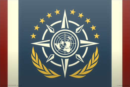 Unified Earth Systems Federation - NEW FLAG by MisterK91