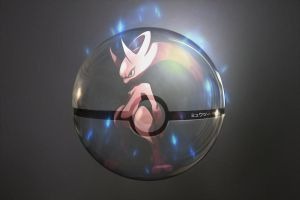 The Pokeball of Mega Mewtwo Y by wazzy88