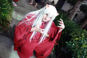 Inuyasha Cosplay - Crouching by MaxArcher