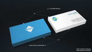 Free Business card Mockup by MixMyPhotoshop
