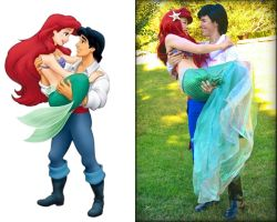Ariel and Eric by mayumi-loves-sora