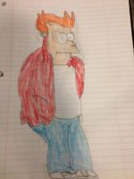 Philip J Fry Colored by Simpsonsfanatic33