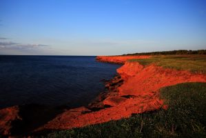 Stock: Red Cliffs at Sunset by Celem