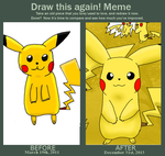 Draw this again ! Pikachu by JackFrostOverland