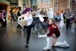 Desucon Frostbite 2015: Leela and Zapp by Lunalle