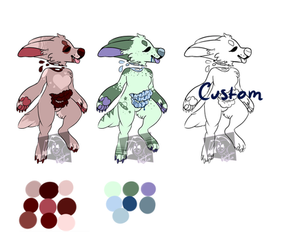 gore pups adopts open (price drop) by psychopathic-circus