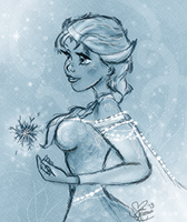 Elsa- Frozen by SarahL-Art
