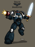 Space Marine by Blazbaros