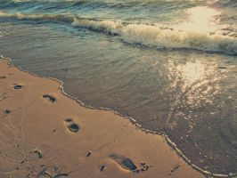 Footprints By the Sea by allyalltheway