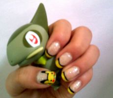 Pikachu Inspired Nail Art by miss-manami