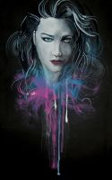 Amy Lee Pink and Blue by manfishinc