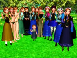 Anna [Frozen] MMD Family [Downloads] by Simmeh
