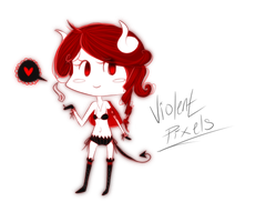:Gaia: Black + Red mini chibi by The-Doodle-Master