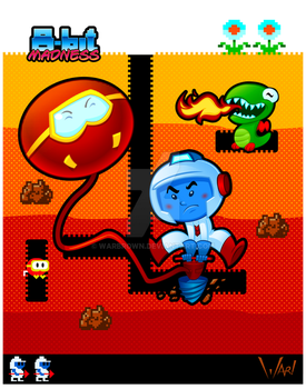 8-bit Madness Dig Dug by WarBrown