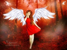 The Red Angel Lady by annemaria48