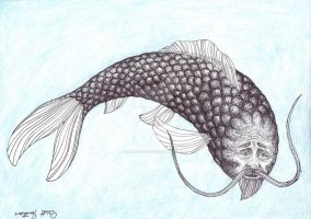 Old Man Koi by Whimsicalist
