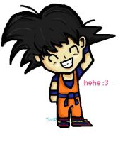 Cute Goku on Paint by tori201