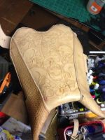 my first motorcycle seat by RomeTheArtist